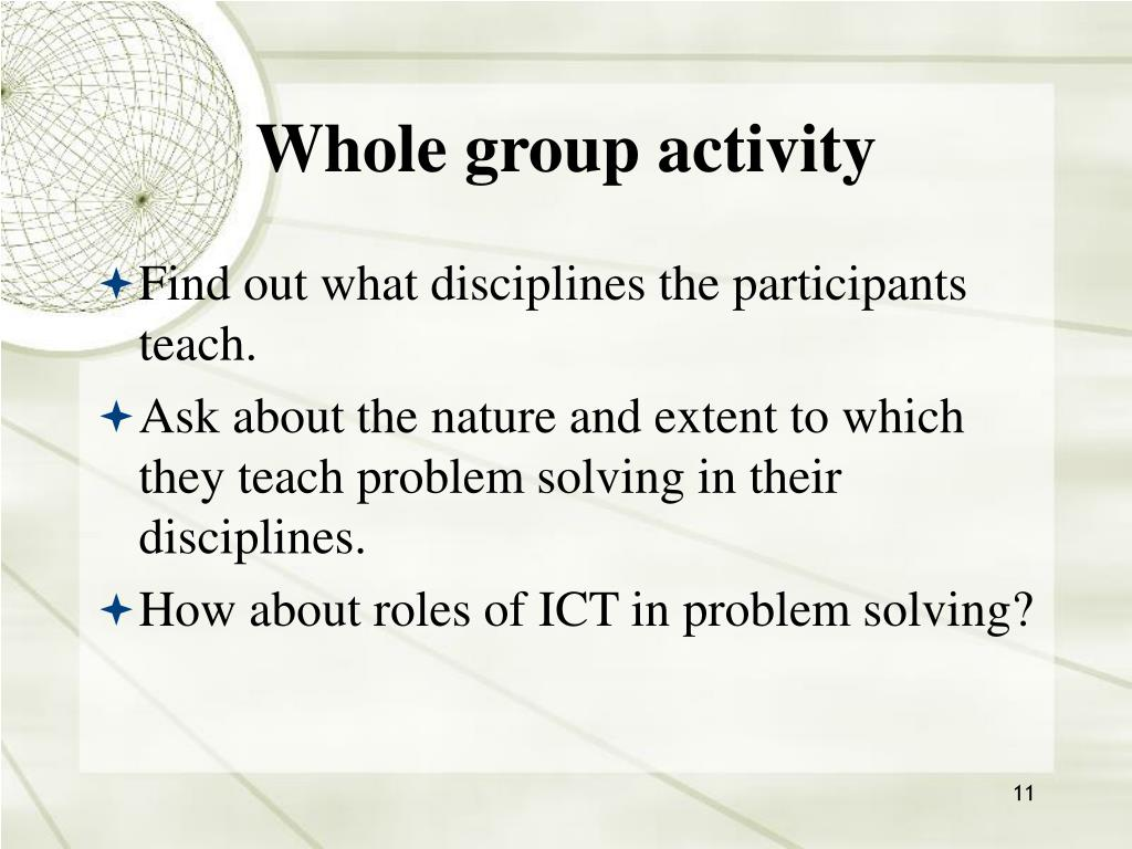 Whole group activity