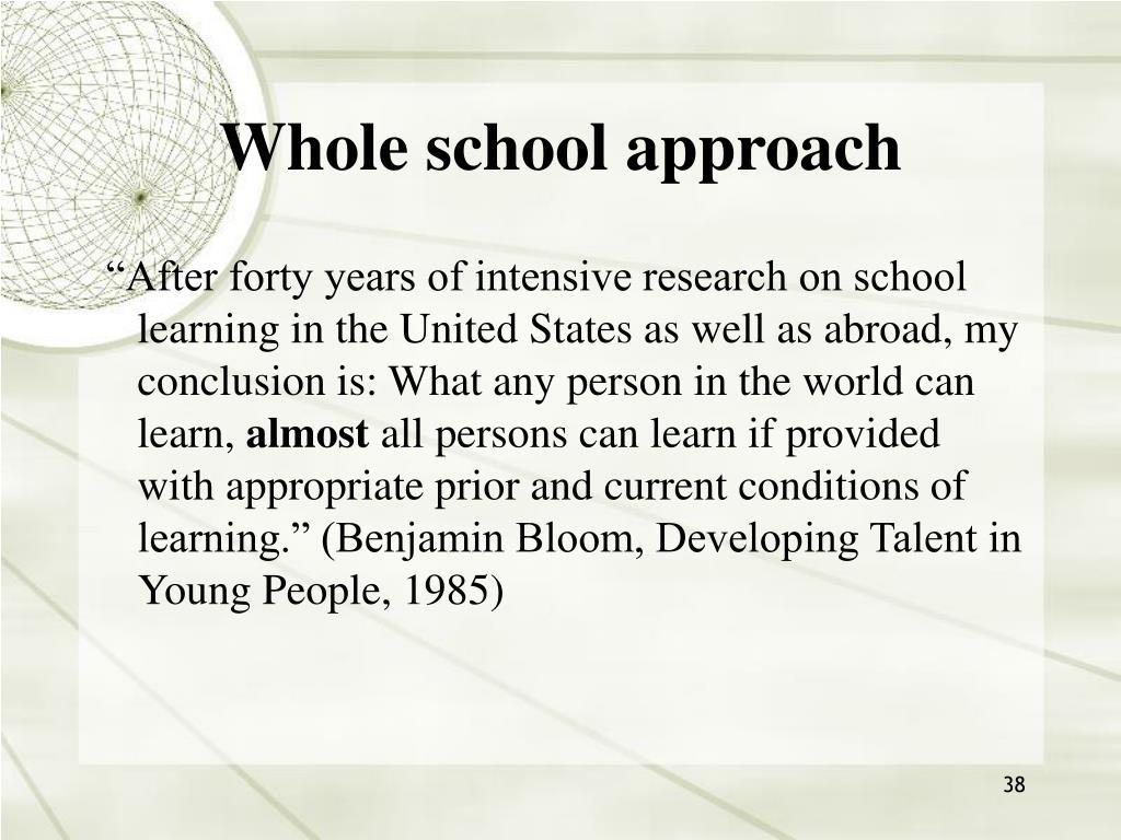 Whole school approach