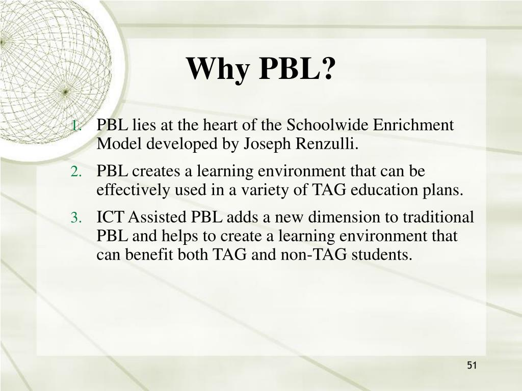 Why PBL?