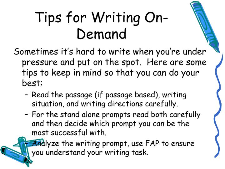How to write an introduction to an one demand essay