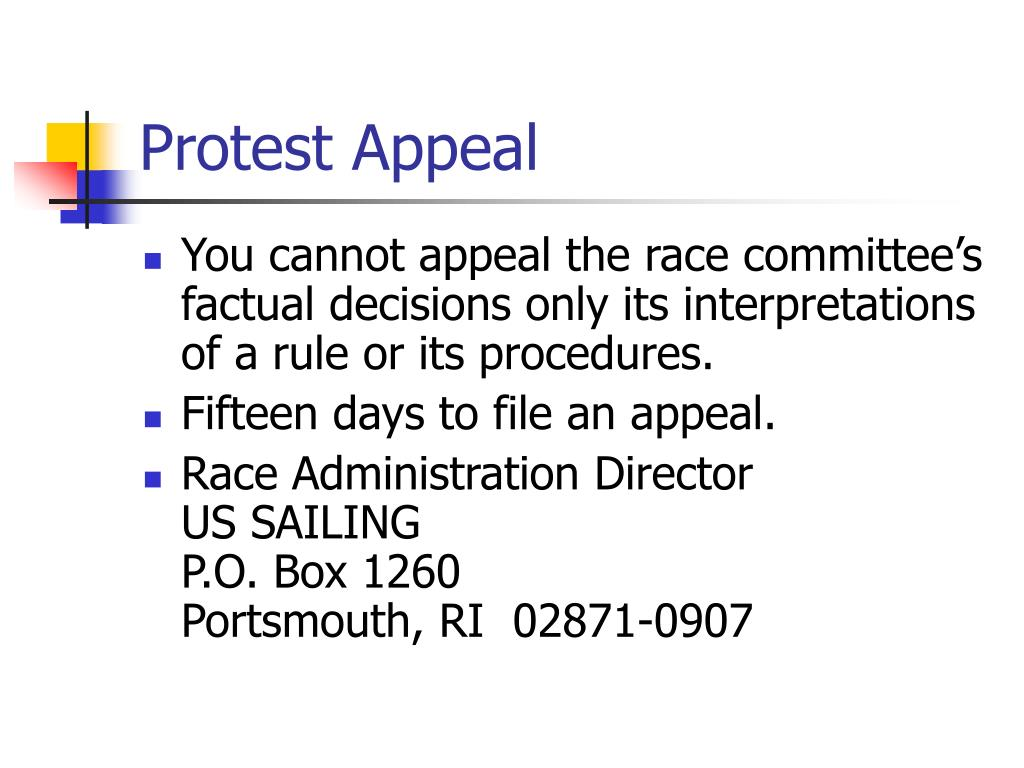 Protest Appeal