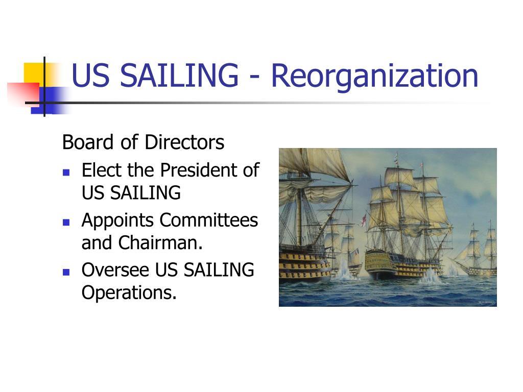 US SAILING - Reorganization