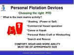 personal flotation devices13