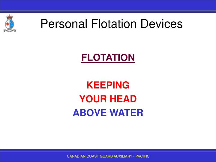 Personal flotation devices2