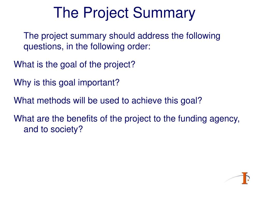 The Project Summary
