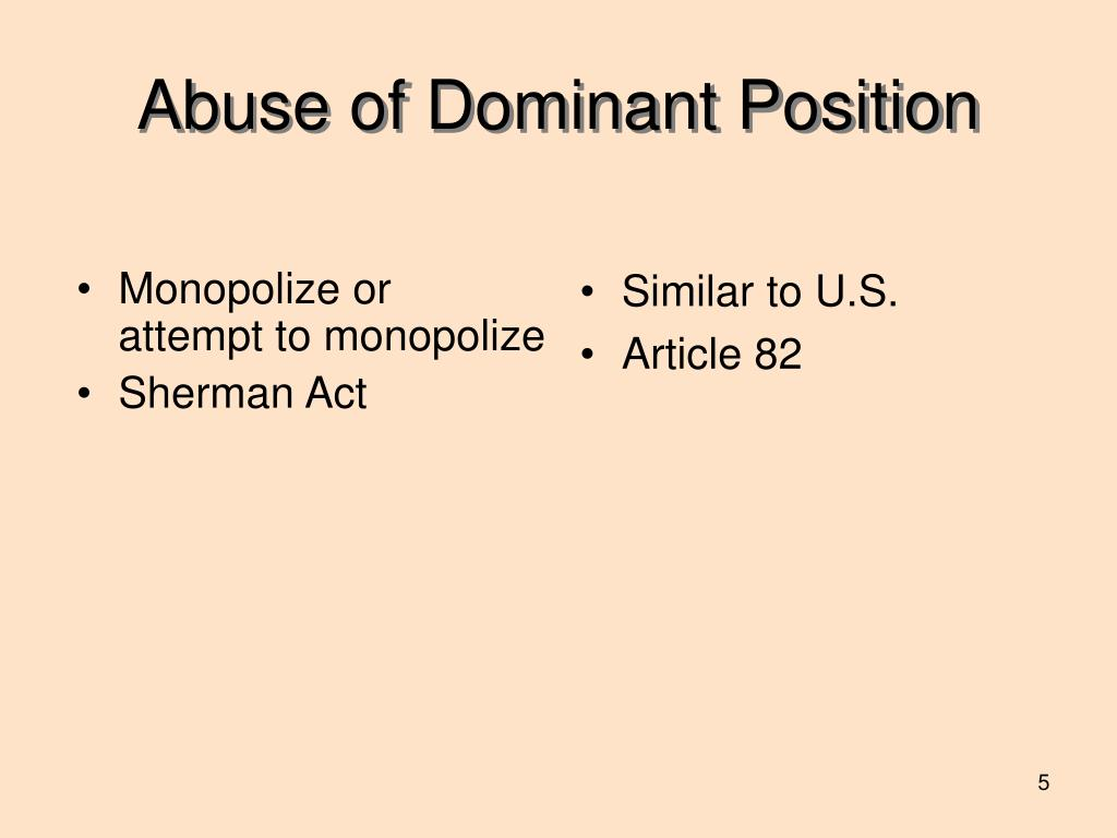 Monopolize or attempt to monopolize