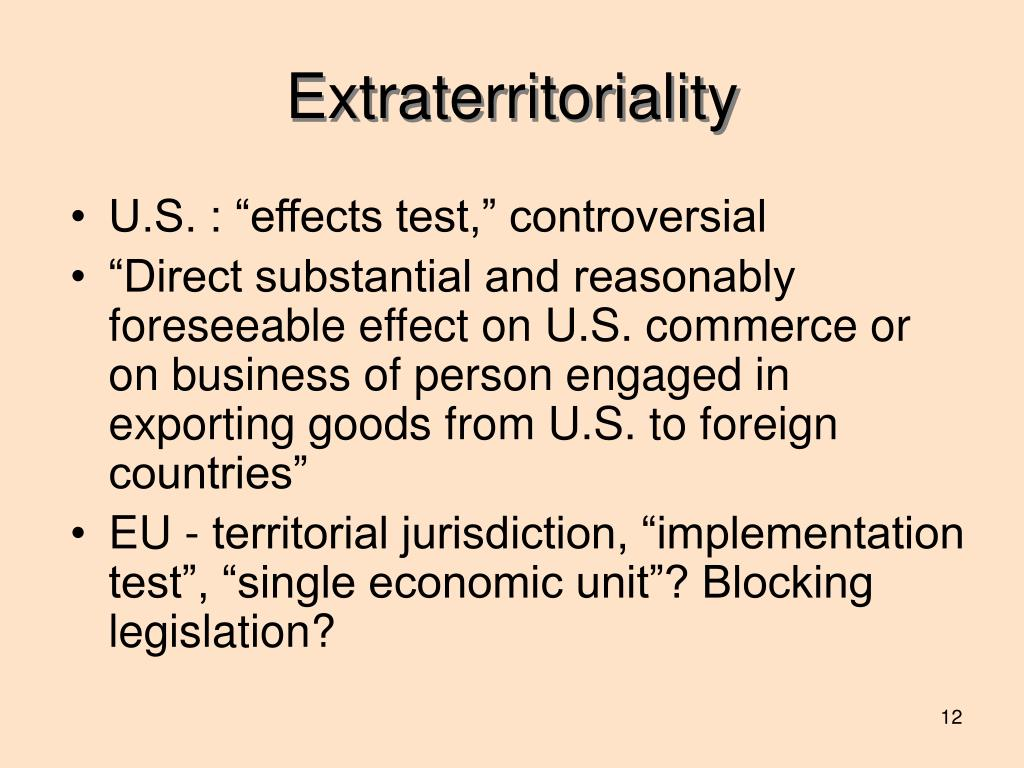 Extraterritoriality
