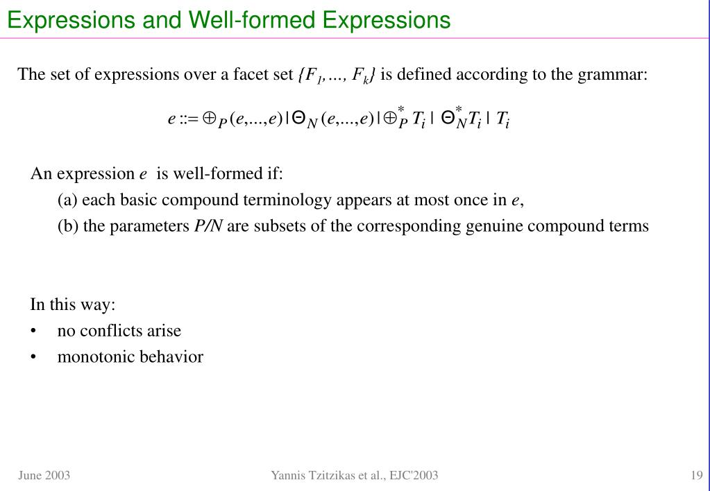 Expressions and Well-formed Expressions