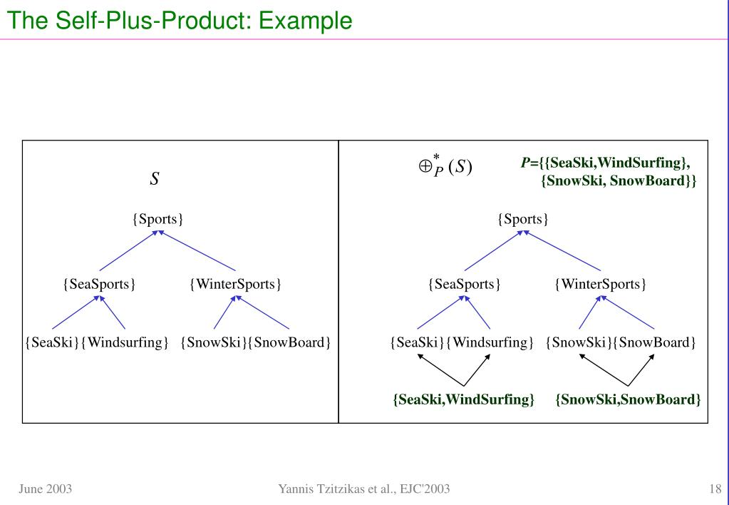 The Self-Plus-Product: Example