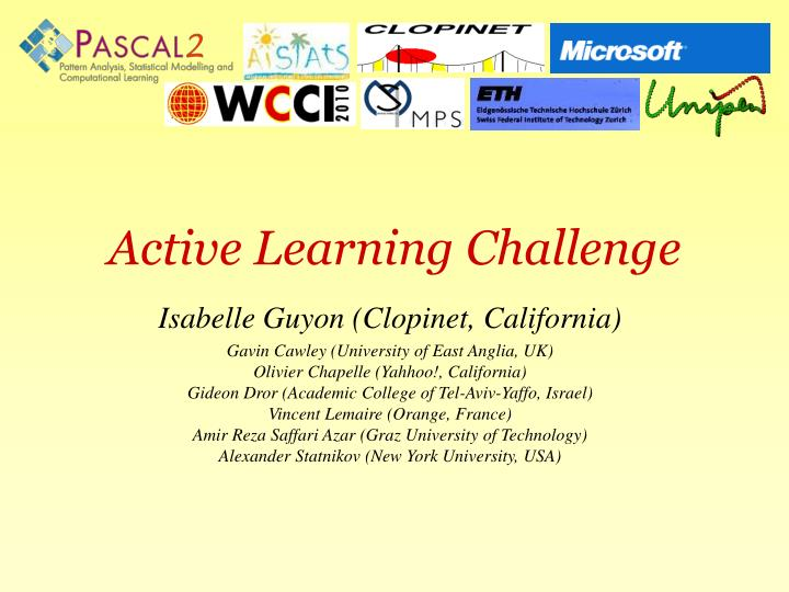 Active learning challenge