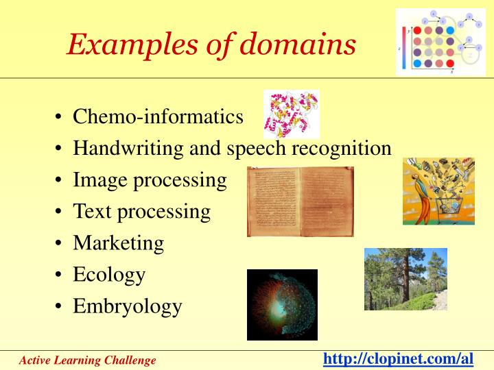Examples of domains
