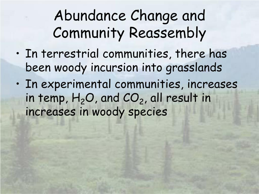 Abundance Change and Community Reassembly