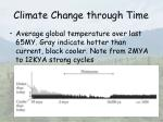 climate change through time9