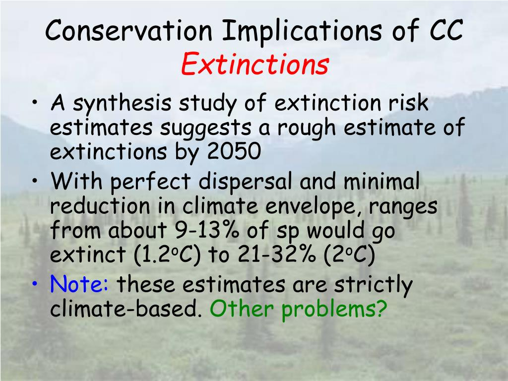 Conservation Implications of CC