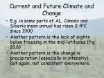 current and future climate and change16