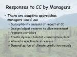 responses to cc by managers50