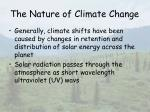 the nature of climate change