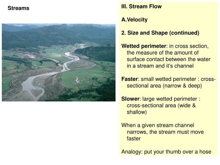 III. Stream Flow