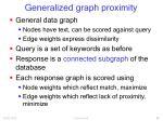 generalized graph proximity