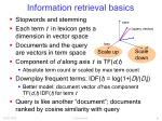 information retrieval basics