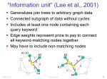 information unit lee et al 2001