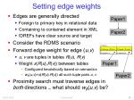 setting edge weights