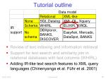 tutorial outline