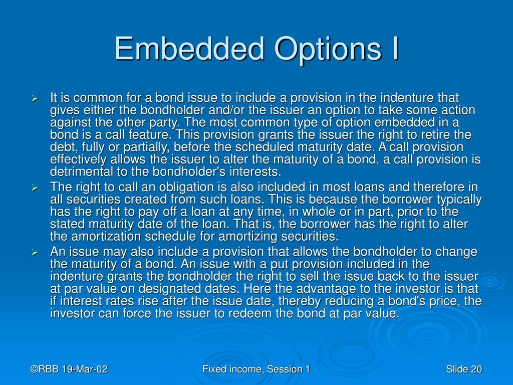 Embedded Options I