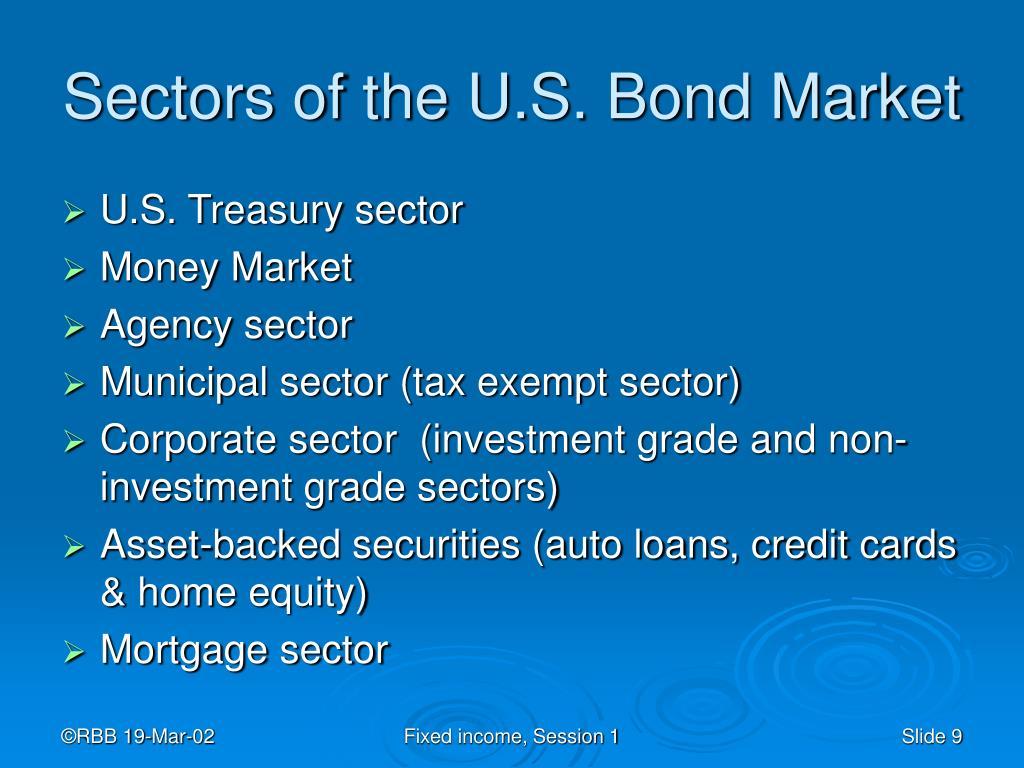 Sectors of the U.S. Bond Market