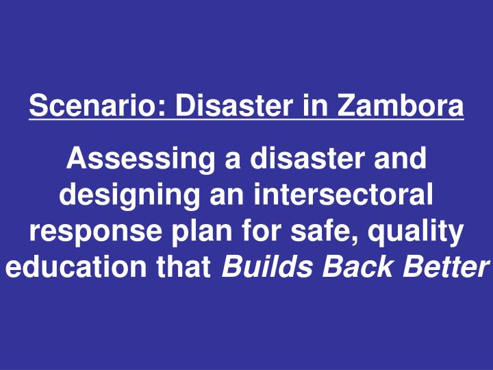 Scenario: Disaster in Zambora