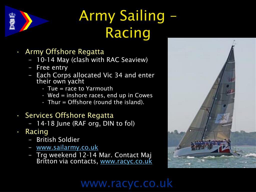Army Sailing –