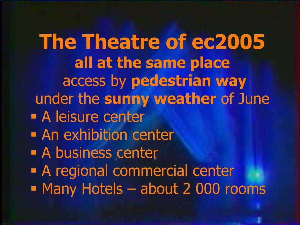The Theatre of ec2005
