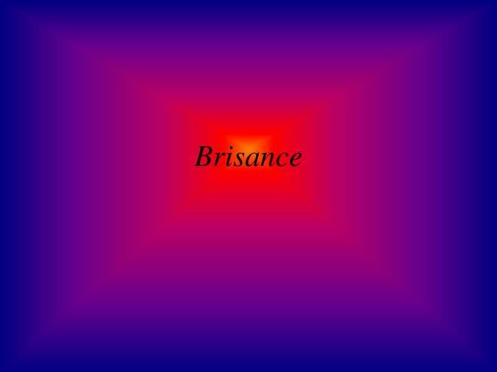 Brisance