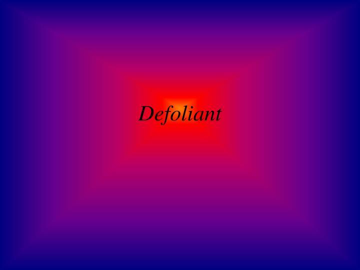 Defoliant