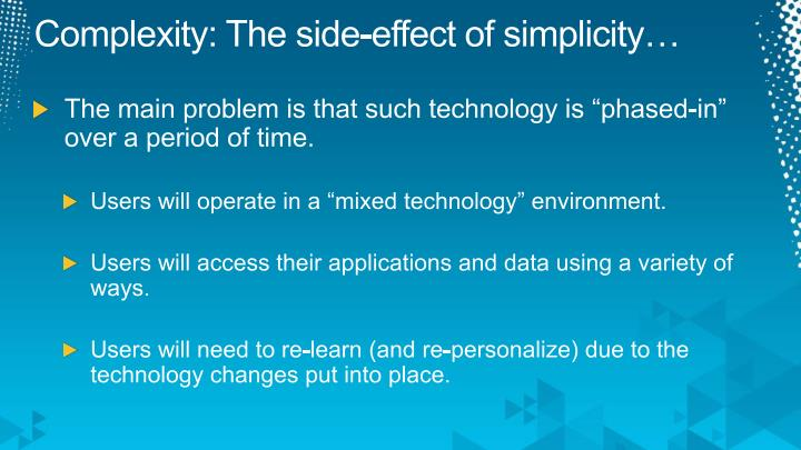 Complexity: The side-effect of simplicity…