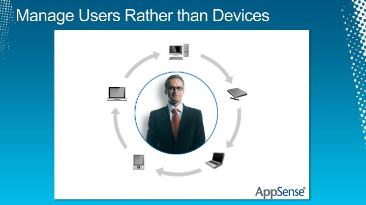 Manage Users Rather than Devices