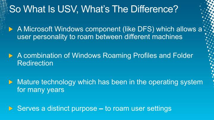 So What Is USV, What's The Difference?