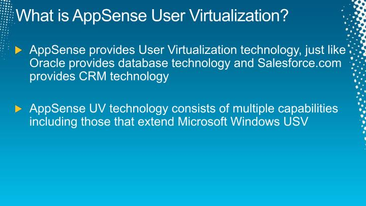What is AppSense User Virtualization?