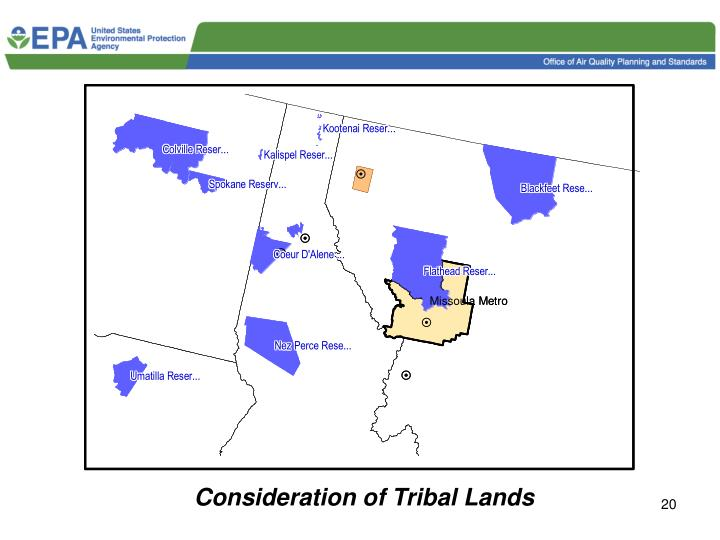 Consideration of Tribal Lands