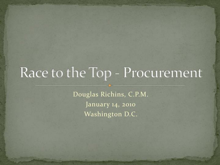 Race to the top procurement
