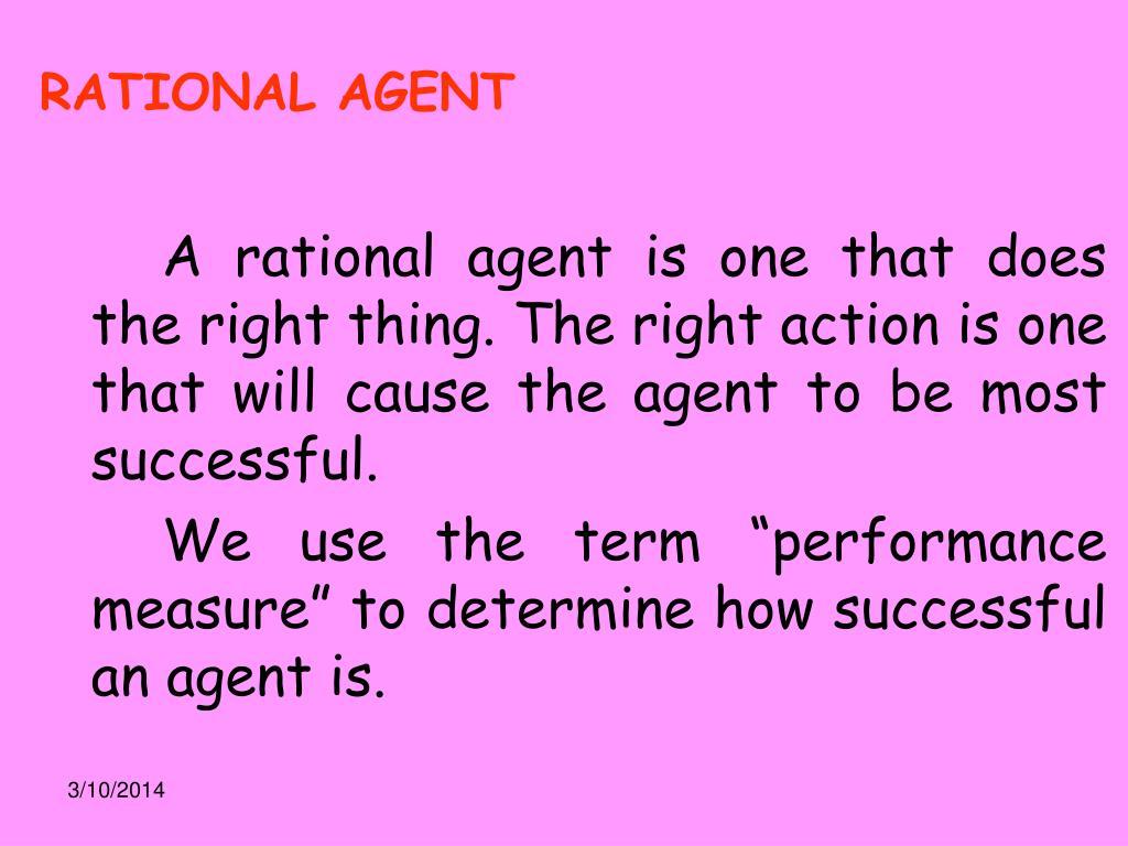 RATIONAL AGENT