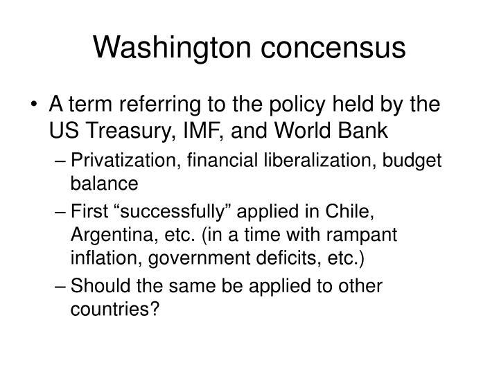 Washington concensus