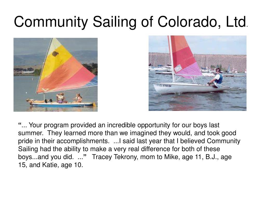 Community Sailing of Colorado, Ltd