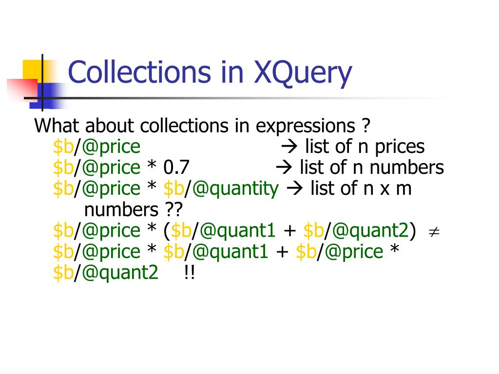 Collections in XQuery