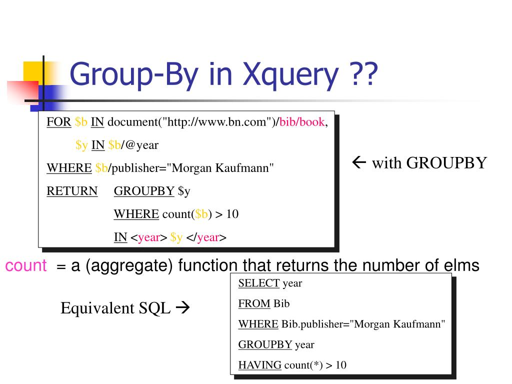 Group-By in Xquery ??