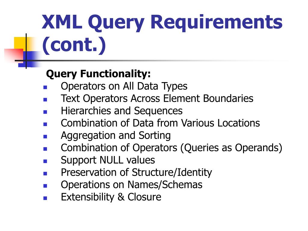 XML Query Requirements