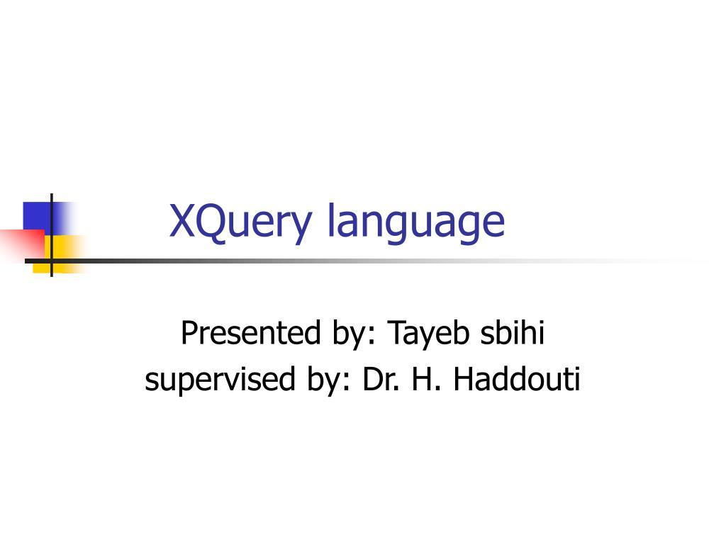 XQuery language