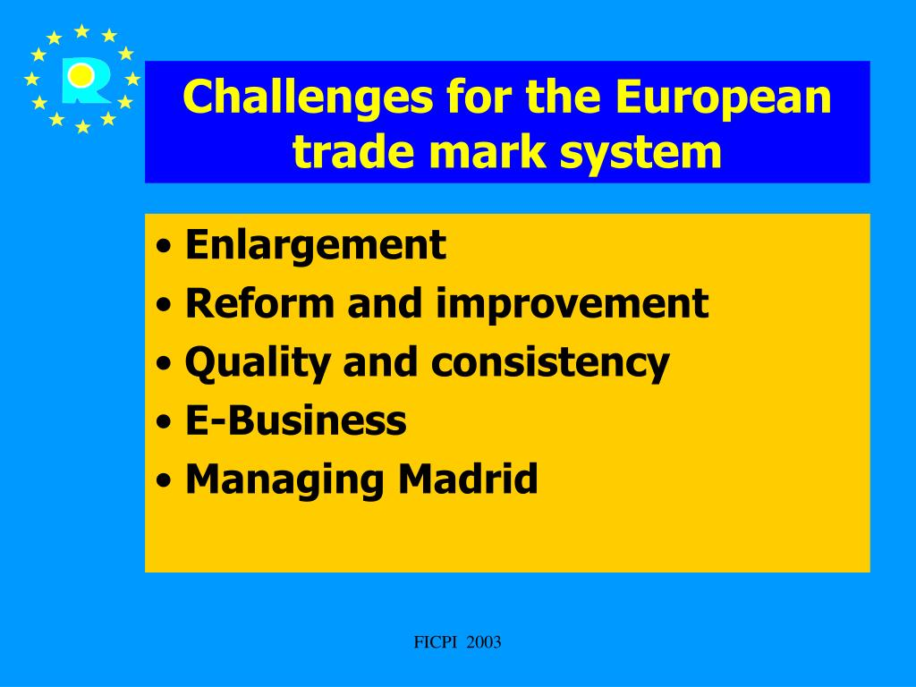 Challenges for the European trade mark system