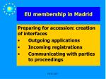 eu membership in madrid