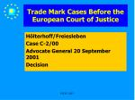 trade mark cases before the european court of justice27